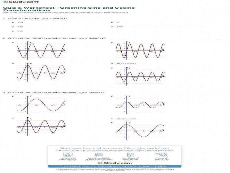 Quiz & Worksheet – Graphing Sine And Cosine Transformations