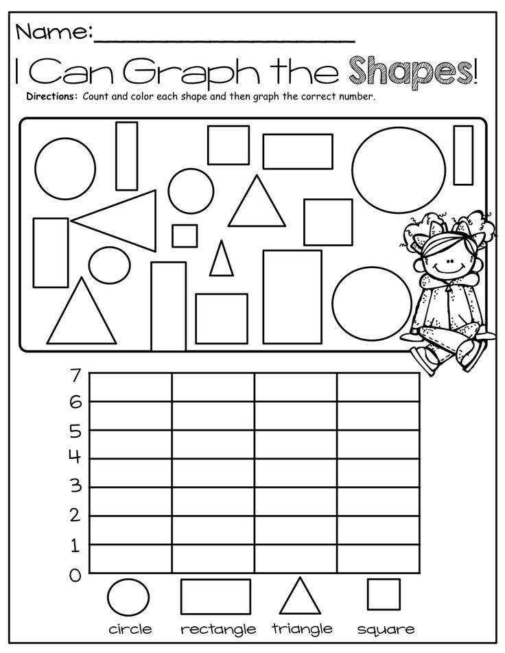 Math shapes graphing worksheet I Can Graph Shapes