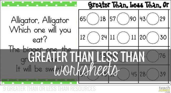 Greater Than Less Than Worksheets Teach Junkie