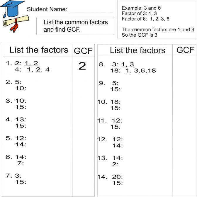 Greatest mon Factor 1to 20 Multiples Worksheet Works 3131 mon Multiples Worksheet Worksheet Medium