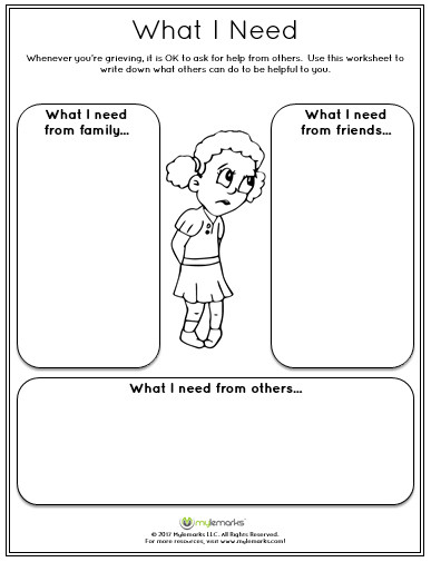 Help children experiencing grief with this worksheet See all of our resources at