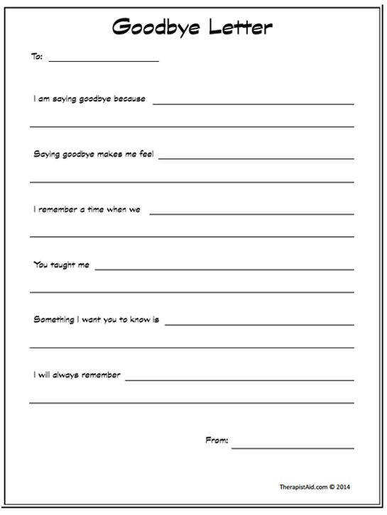 Goodbye Letter Preview notebook Psyc Counseling Pinterest