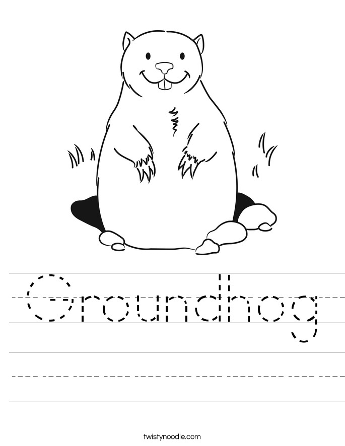 Groundhog Handwriting Sheet