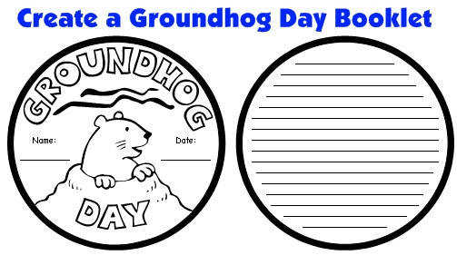 Groundhog Day Projects Templates and Activities for Elementary School Students