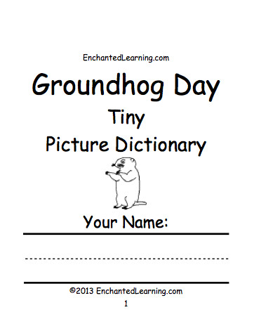 Groundhog Day Tiny Picture Dictionary