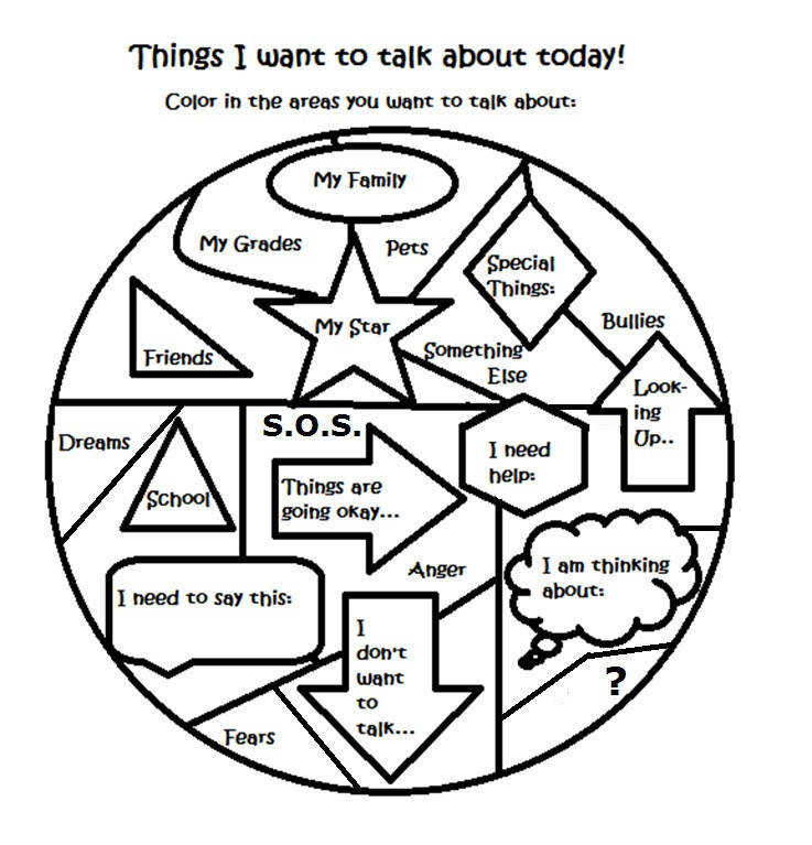 Free Art Therapy Counseling Group Activity Worksheet Below