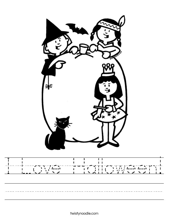 I Love Halloween Worksheet