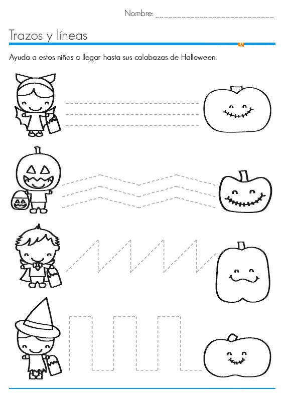 halloween trace line worksheet 3 More