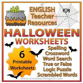 Halloween Worksheets in English Activities for Fast Finishers