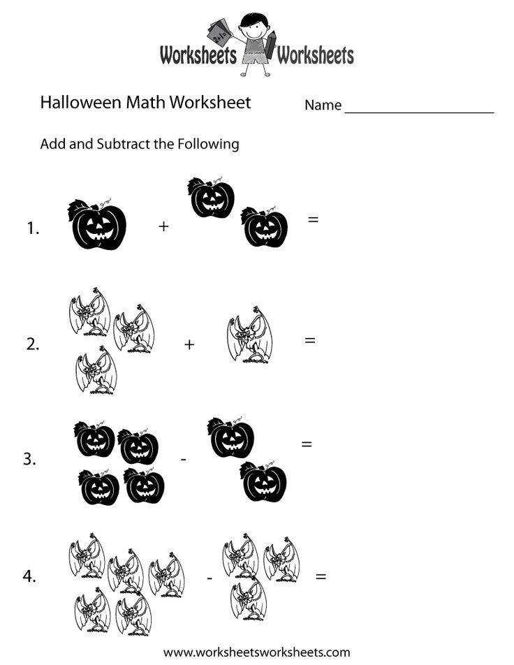 1st Grade Halloween Worksheets