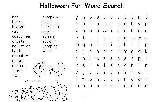 Free Printable Halloween Worksheets For Kids