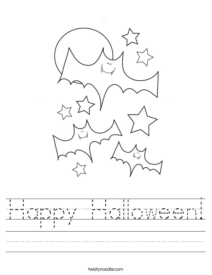 Happy Halloween Worksheet