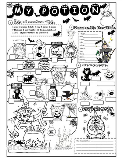 7 Best of Halloween Printable Worksheets For Teachers Free Printable Halloween Activity Worksheets Free Printable Halloween Worksheets and Free