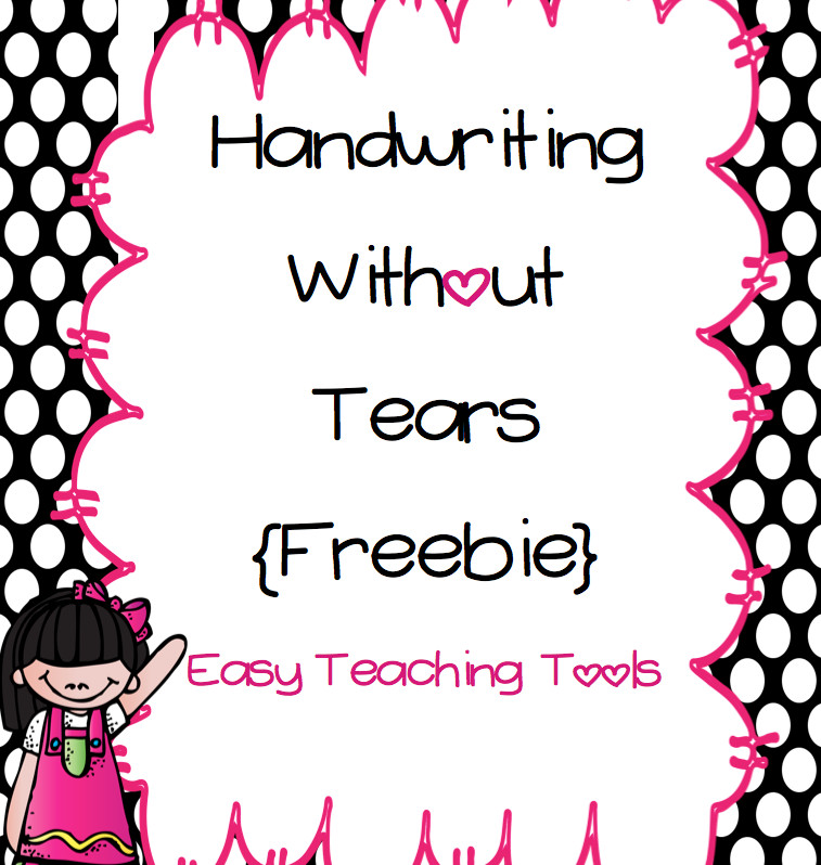 Easy Teaching Tools Handwriting without Tears