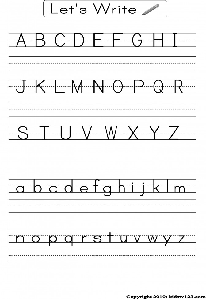 Kidstv123 Alphabet Worksheets School Pinterest e d8b c Kindergarten Handwriting Worksheet Maker Worksheet Medium