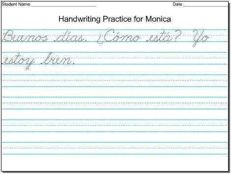 Print handwriting worksheet maker