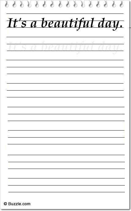 handwriting worksheet7