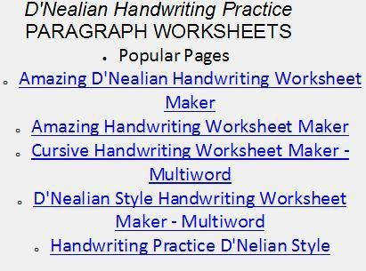FREE HANDWRITING WORKSHEETS CLICK LINK BELOW