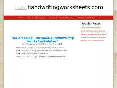handwritingworksheets
