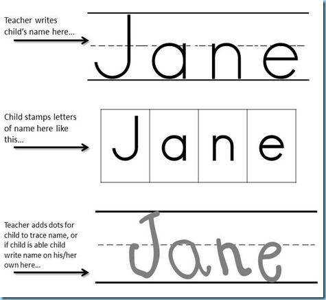 Preschool Printables Name Stamping