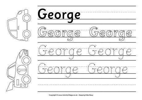 george handwriting worksheet 460 0