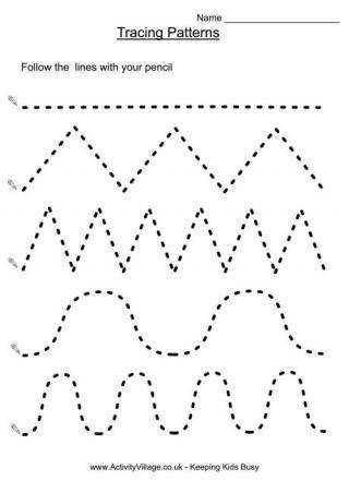 Handwriting Readiness Worksheets large collection from tracing patterns to words