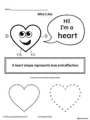 Learning Basic Geometric Shape Heart