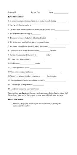 Worksheet Methods of Heat Transfer In ancient cultures many cultures explained severe weather events