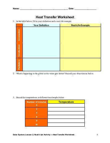 Heating Curve Worksheet Chemistry