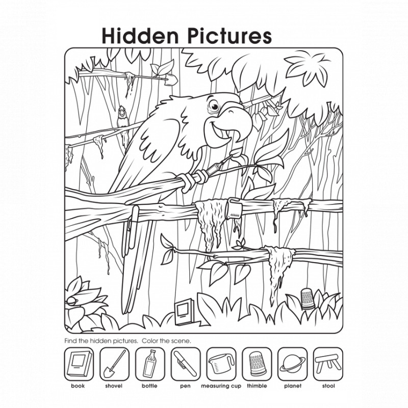 hidden pictures worksheet page
