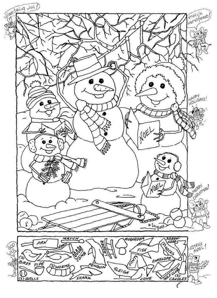 Hidden Publishing Snowman Hidden Picture Puzzle for Christmas