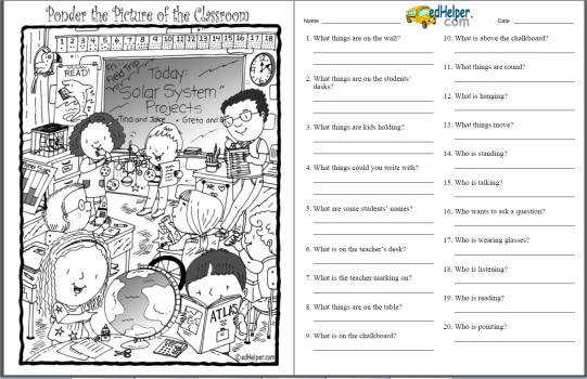 find and ponder the hidden picture worksheets