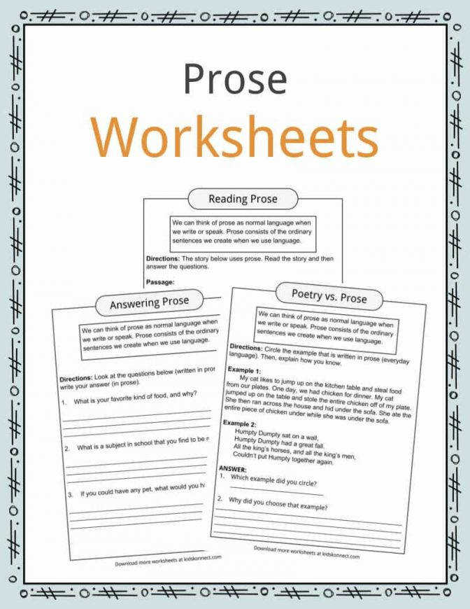 High School Reading Comprehension Worksheets