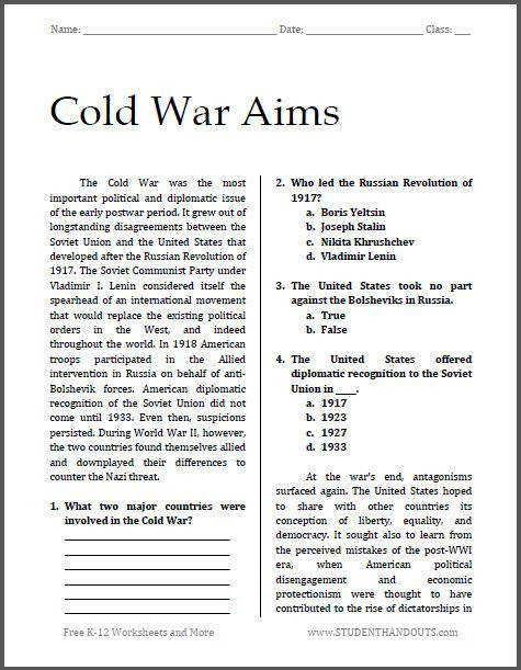 Cold War Aims
