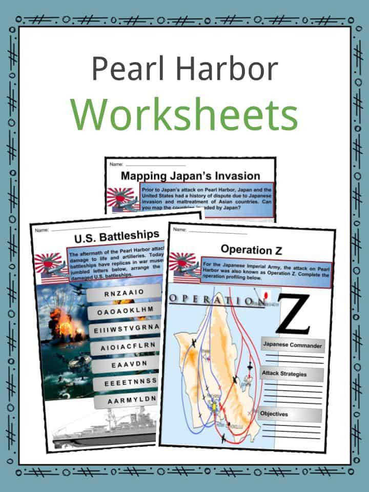 Download the Pearl Harbor Facts & Worksheets