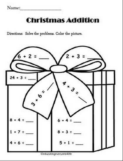 Christmas Math Games &amp Activities