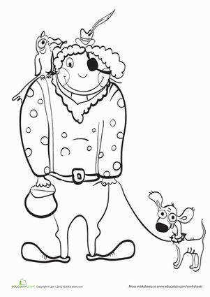 Halloween Kindergarten Holiday Worksheets Halloween Pirate Coloring Page