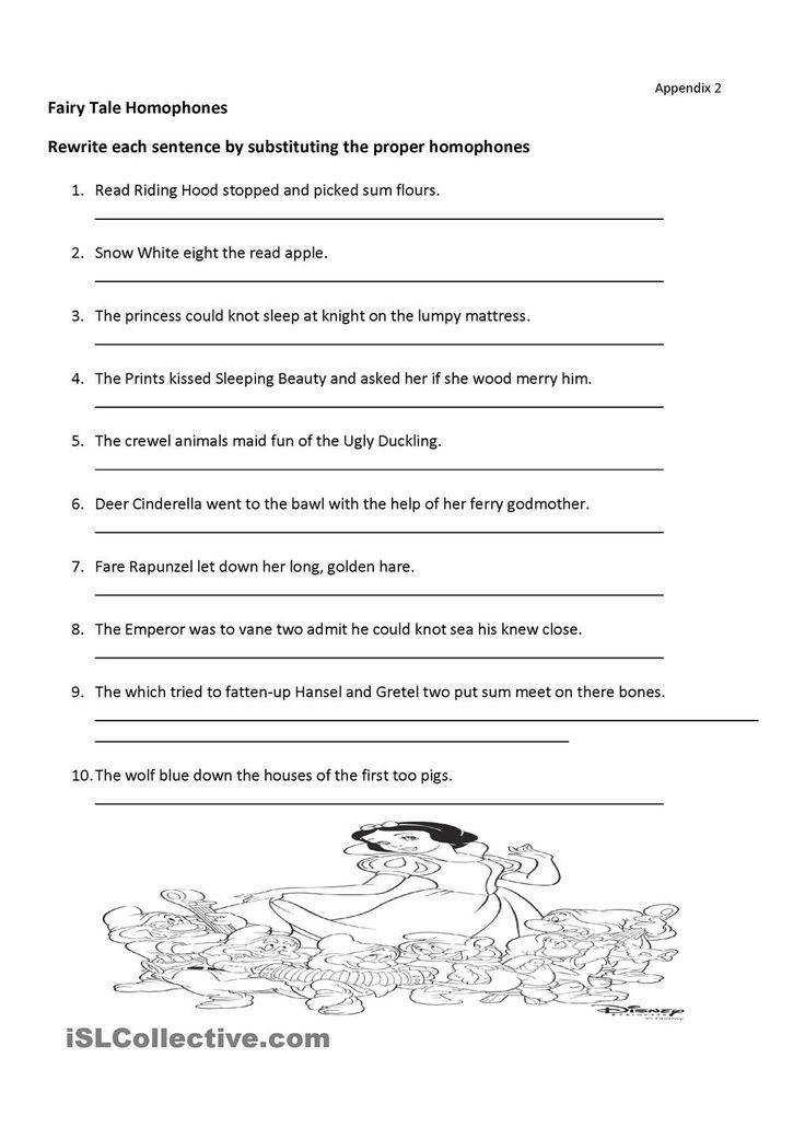 fairy tales Homonyms two words with the same pronunciation homophones and homographs Homonyms Words easily confused Intermediate elementary school