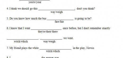 they re their there it s its you re your way weigh – and other Homophones Worksheet