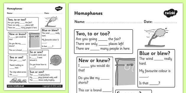 Homophones Worksheet homophones homophone worksheet basic homophones worksheet word types ks2