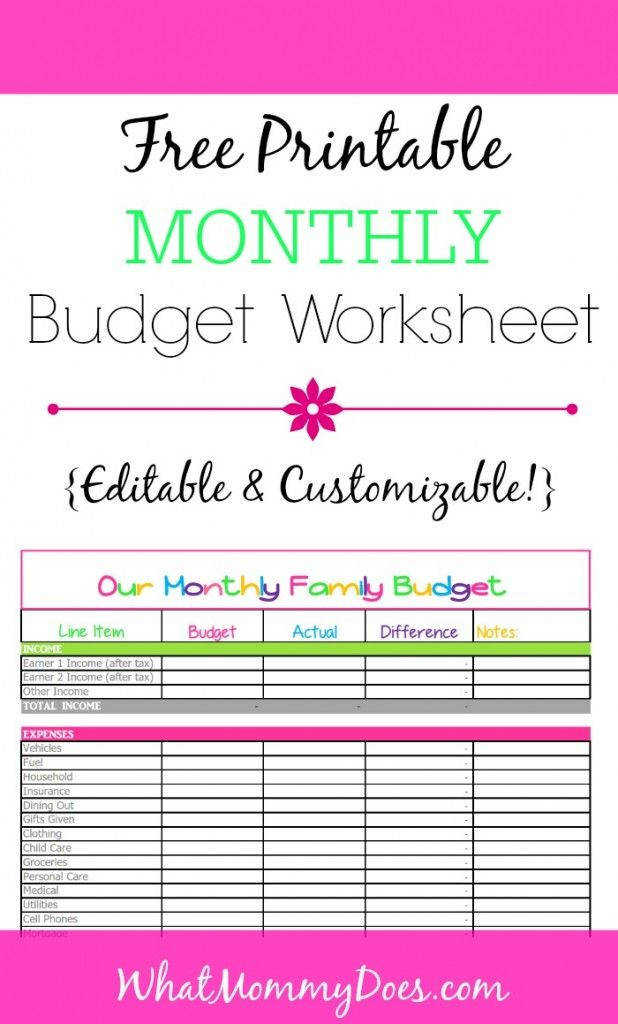 Cute Monthly Bud Printables from WhatMommyDoes This colorful worksheet is perfect for tracking