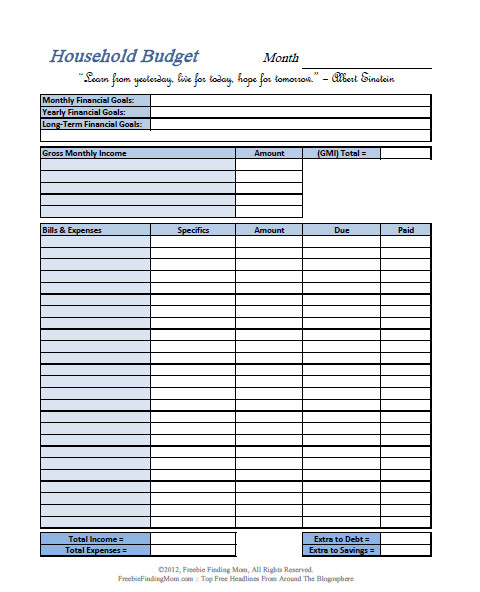 FREE Printable Bud Worksheets – Download or Print