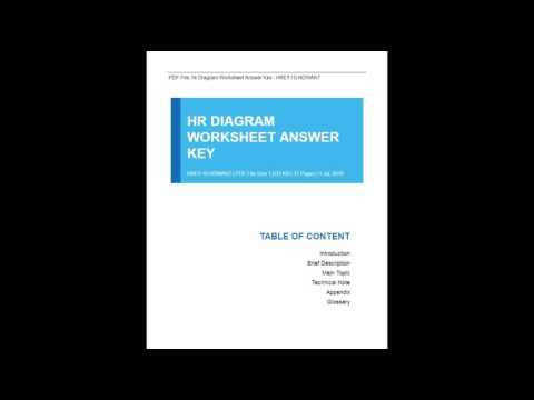 Hr Diagram Worksheet Answer Key