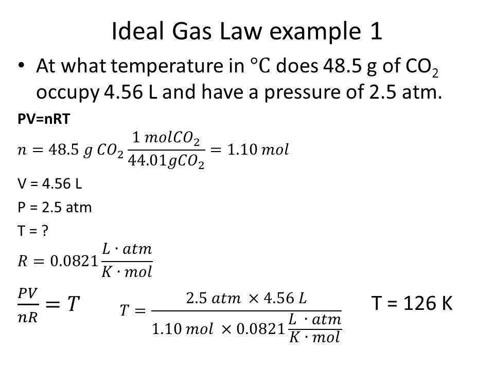 Ideal Gas Law Problems Worksheet | Homeschooldressage.com