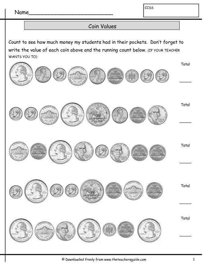 Counting Coins Worksheets From The Teachers Guide Kindergarten Money Identification Countingcoinshowmuchmoneyallmixe Kindergarten Money Worksheet Worksheet