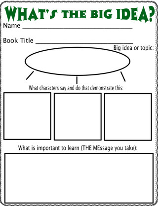 Great ideas for helping to teach and identify theme Really helped me