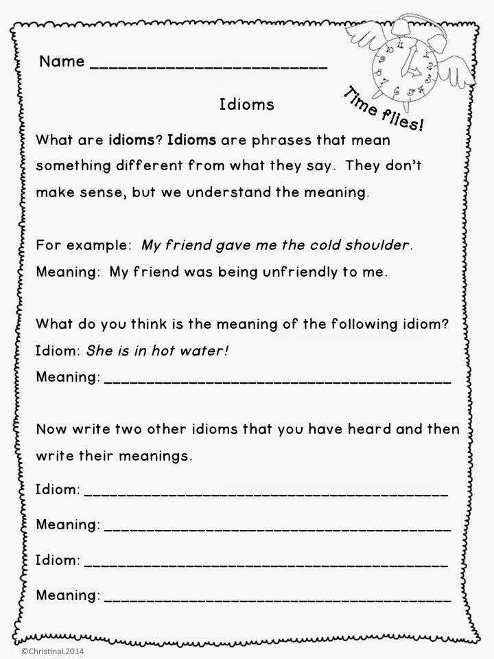 "Language Arts ""Idioms Worksheets and Mini Booklet"""