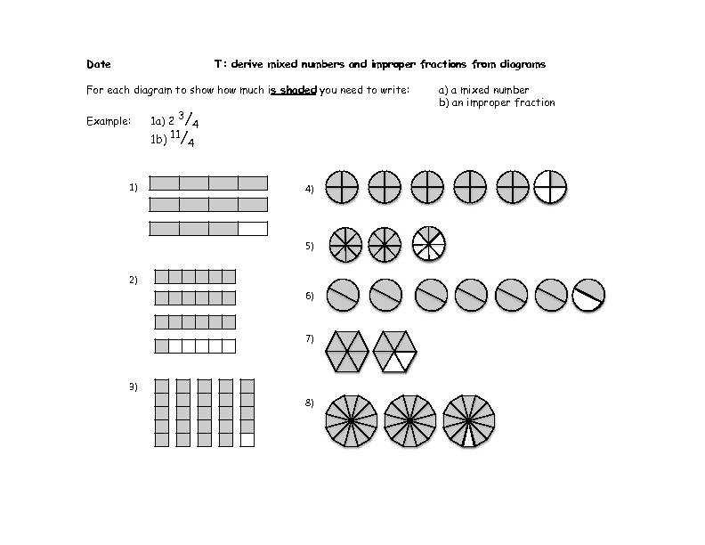 Mixed Number Improper Fraction Worksheet Fractions Worksheets