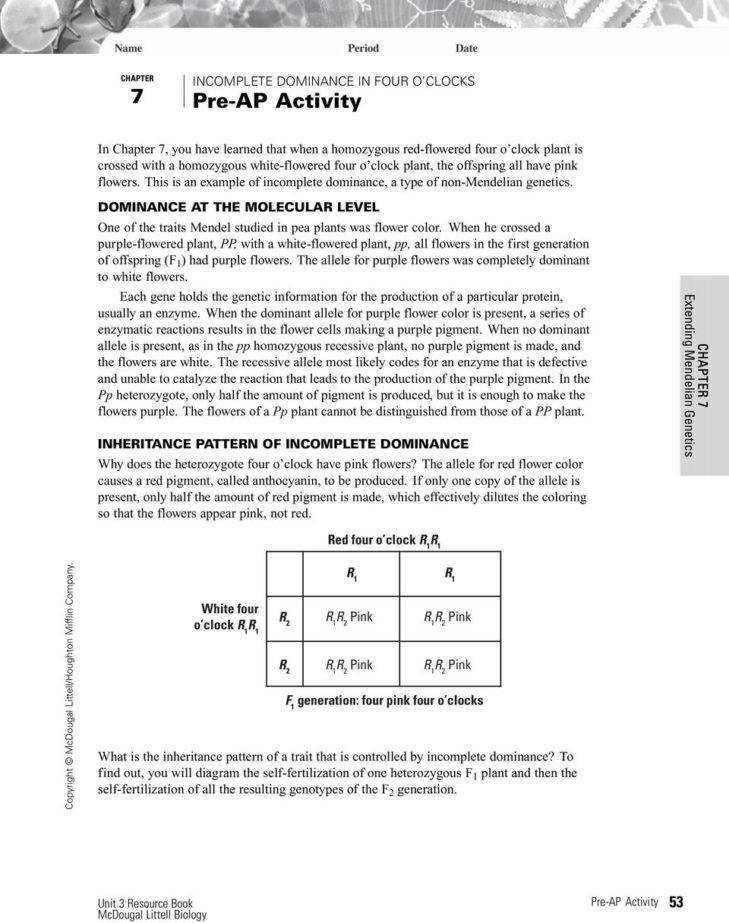 Medium Size of Worksheet what Are The Possible Genotypes The Parents Codominance Vs In plete