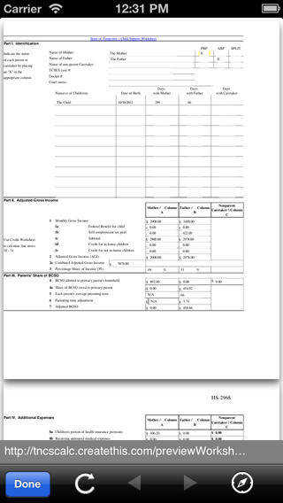 Ohio Child Support Worksheet Samsungblueearth
